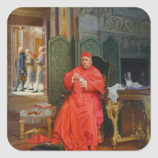 The Diet by Jean Georges Vibert Square Sticker