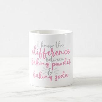 The difference between baking powder & baking soda coffee mug