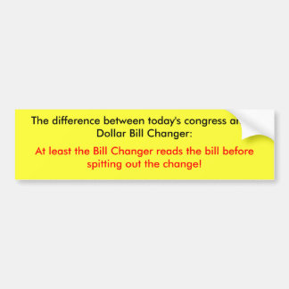 The difference bumper sticker