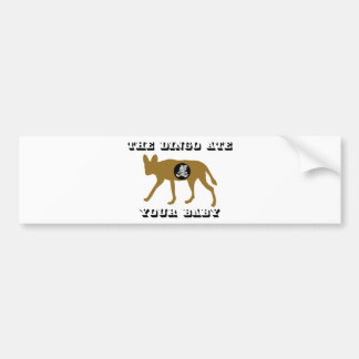 The Dingo Ate Your Baby Bumper Sticker