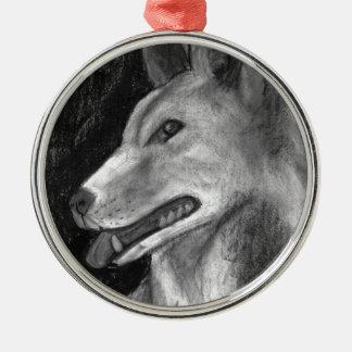The Dingo Silver-Colored Round Ornament