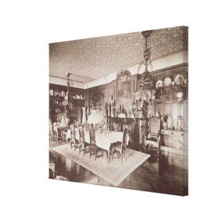 The Dining Room, Wickham Hall, Kent, 1897 Canvas Print