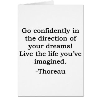 The Direction of Your Dreams Quote Card