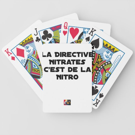The Directive Nitrates, it is of Nitro - Plays of Bicycle Playing Cards