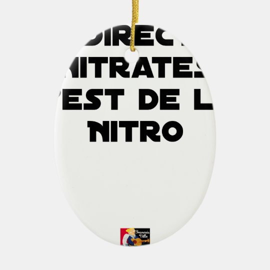 The Directive Nitrates, it is of Nitro - Plays of Ceramic Ornament