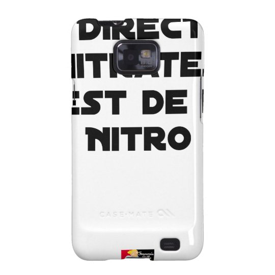 The Directive Nitrates, it is of Nitro - Plays of Galaxy S2 Case