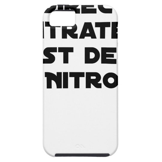 The Directive Nitrates, it is of Nitro - Plays of iPhone 5 Cover