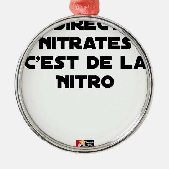 The Directive Nitrates, it is of Nitro - Plays of Metal Ornament
