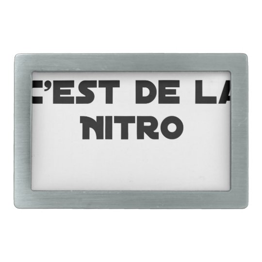 The Directive Nitrates, it is of Nitro - Plays of Rectangular Belt Buckles
