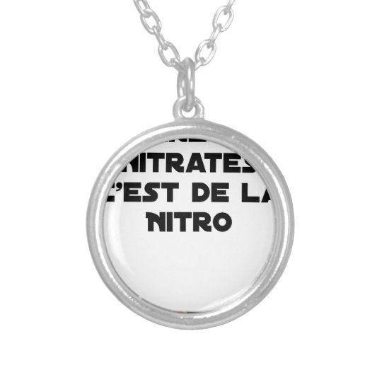 The Directive Nitrates, it is of Nitro - Plays of Silver Plated Necklace