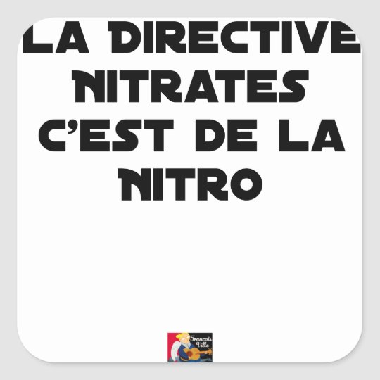 The Directive Nitrates, it is of Nitro - Plays of Square Sticker