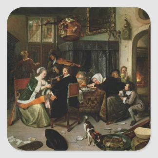 The Dissolute Household, 1668 Square Sticker