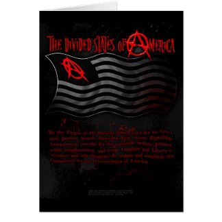 The Divided States of America - Postcard