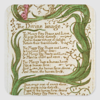 The Divine Image, from Songs of Innocence, 1789 Square Sticker