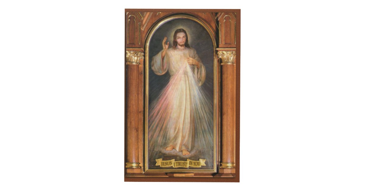 Divine Design Wall Art : The divine mercy traditional devotional image wood wall