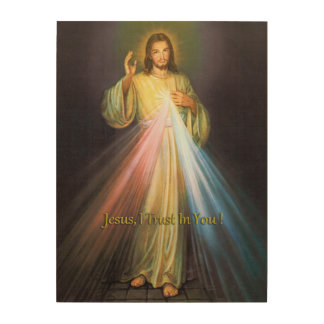 THE DIVINE MERCY WOOD PRINT