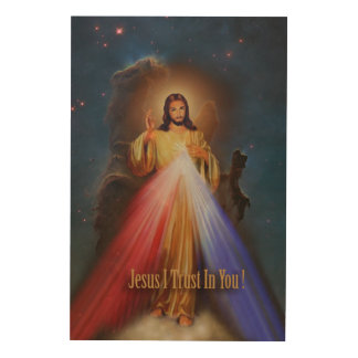 The Divine Mercy Wood Wall Art