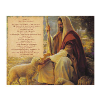 The Divine Shepherd Wood Wall Decor