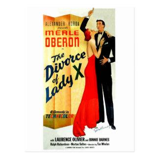 The Divorce of Lady X Postcard