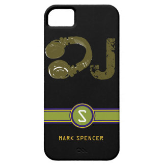 the DJ name initial Case For The iPhone 5