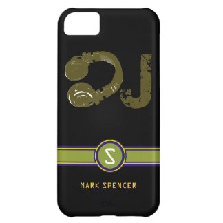 the DJ name initial Cover For iPhone 5C