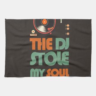The DJ stole my soul Kitchen Towel