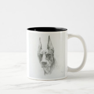 The Doberman sketch magnetic cup A