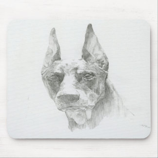 The Doberman sketch mouse pad