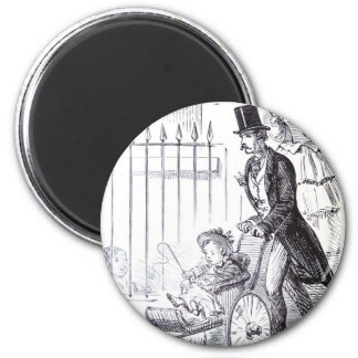The Docile Husband 2 Inch Round Magnet