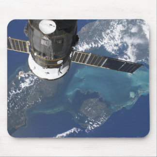 The docked Progress 22 spacecraft Mouse Pad