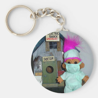 The Doctor is In Basic Round Button Keychain