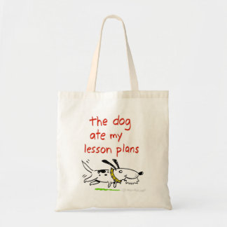 the dog ate my lesson plans tote