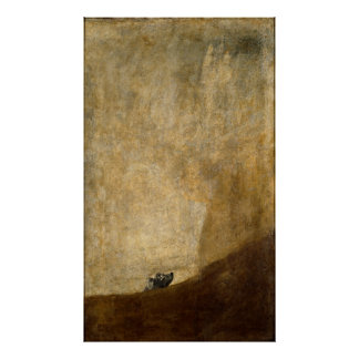 The Dog (Black Paintings) by Francisco Goya 1820 Poster