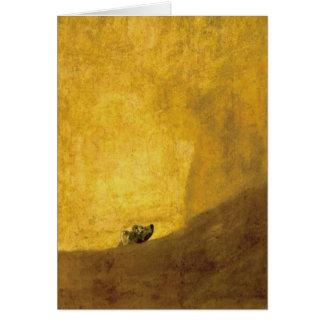 The Dog, by Francisco de Goya Card