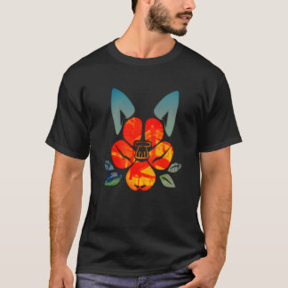 The Dog camellia crest T-Shirt