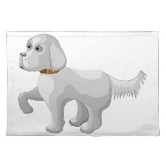The dog gives paw placemat