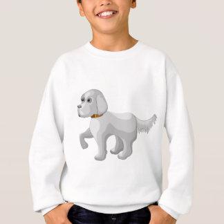 The dog gives paw sweatshirt