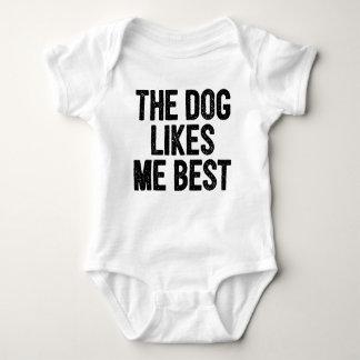 The Dog Likes Me Best. Baby Bodysuit