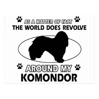 The dog revolves around my KOMONDOR Postcard
