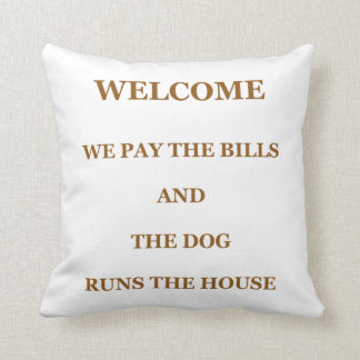 Throw Pillows With Dog Sayings : Funny Sayings Pillows - Funny Sayings Throw Pillows Zazzle