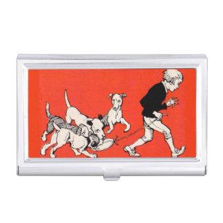 the dog walker business card holder