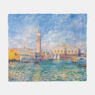 The Doge's Palace, Venice by Renoir Fleece Blanket