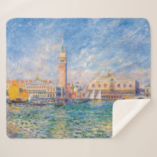 The Doge's Palace, Venice by Renoir Sherpa Blanket