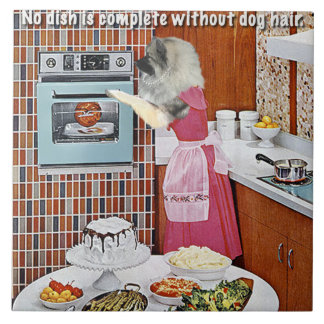 The Dog's Kitchen Rule Tile