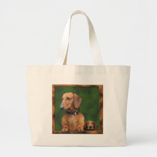 The dogs want out! large tote bag