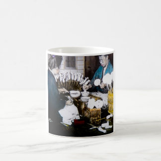 The Doll Makers of Old Japan Vintage Hand Tinted Coffee Mug