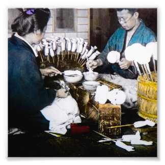 The Doll Makers of Old Japan Vintage Hand Tinted Photo Art