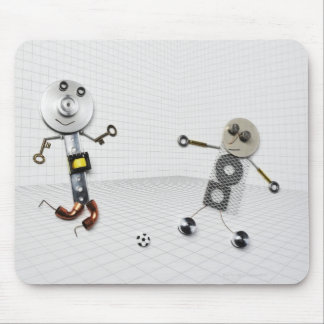 The doll of the handmade stuff which various mouse pad