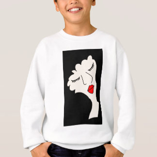the doll with the black hair sweatshirt
