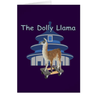 The Dolly Llama Card